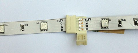 Tape-to-tape connector for LED strip lights