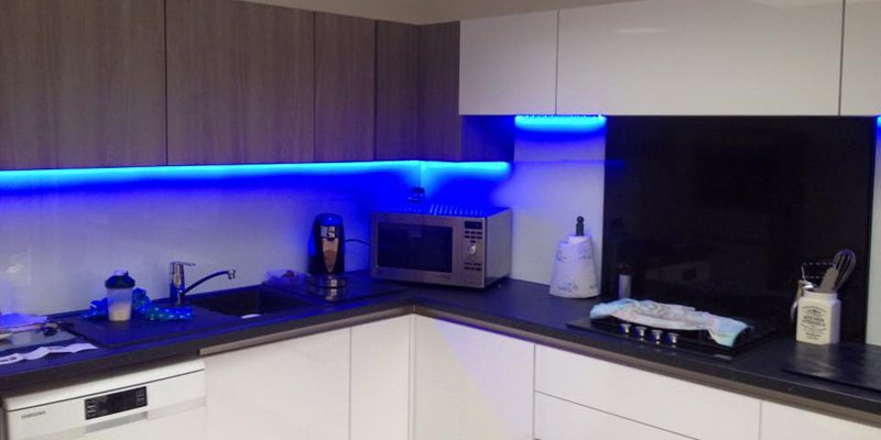 How to install led strip lights under a kitchen cabinet how to install led tape under a kitchen cabinet aloadofball