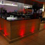 Bar uplights using LED steplights