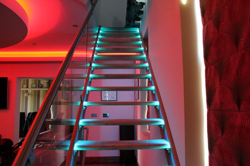 Lighting Basement Washroom Stairs: Colour, Brightness, Power & Control