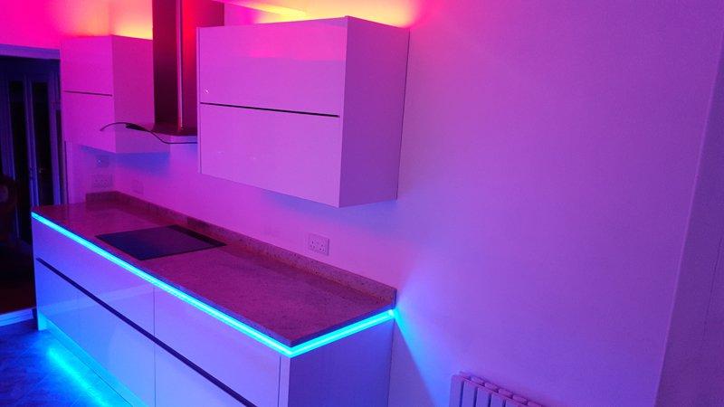 cabinet strip lights and plinth led lights lee split the new leds