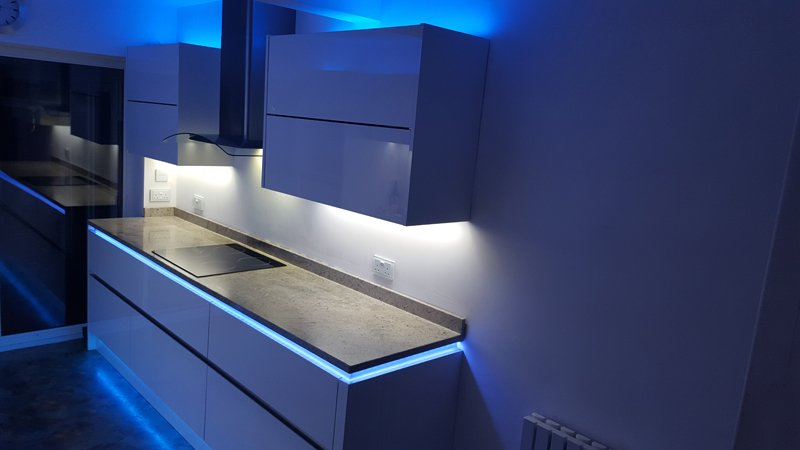 Strip Lighting Used In Kitchens To Create A Warm Look