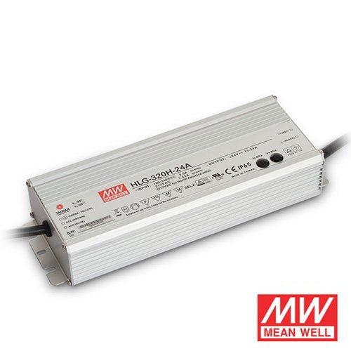 320-watt waterproof Mean Well transformer for LED strip lights