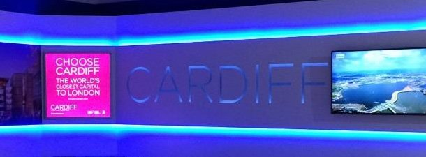 Cardiff promotional city model lit by InStyle LEDs