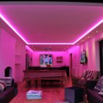 RGBW kitchen LEDs set to shocking pink