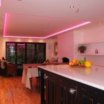 Pink light mix for RGBW kitchen LEDs