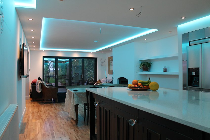 How To Position Your LED Strip Lights - Kitchen plinth lighting ideas