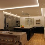 Warm-white lighting from kitchen RGBW LEDs #1