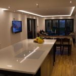 Cool-white lighting from kitchen RGBW LEDs