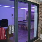 Kitchen LEDs through patio door