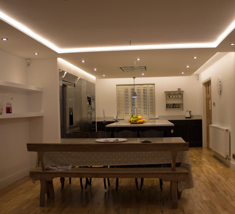 kitchen led strip lighting residential kitchen led lighting project 5326