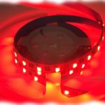 RGBW LED tape reel mixing red light