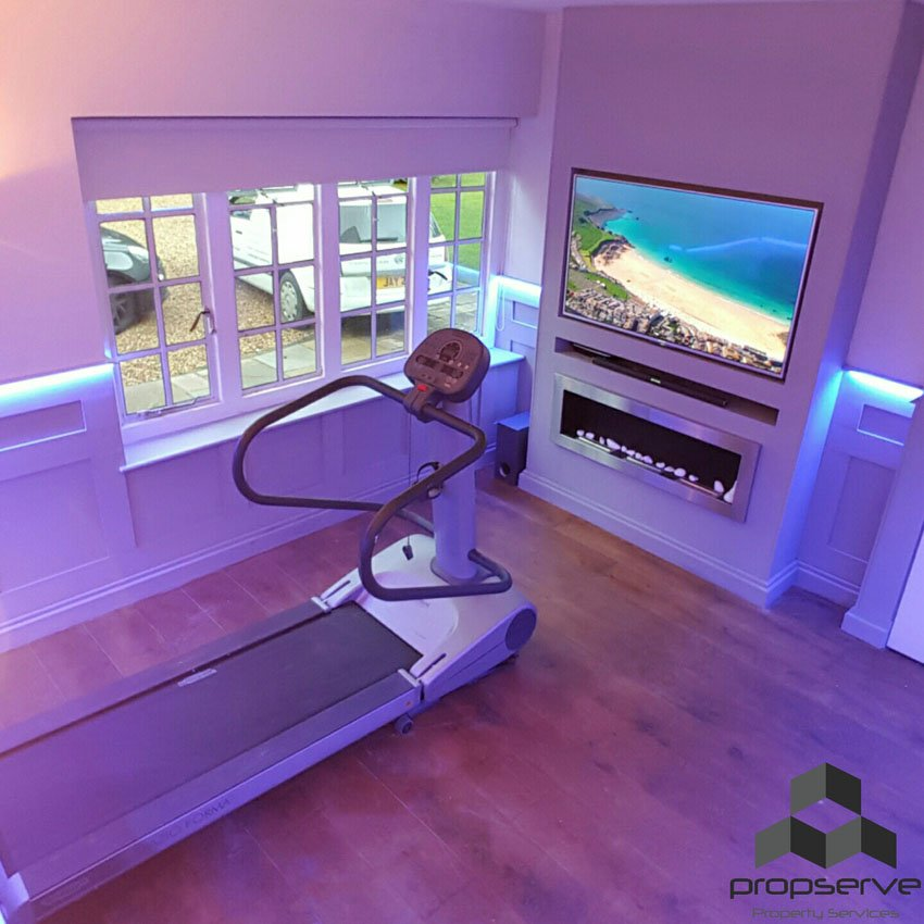 Cinema / workout room from above