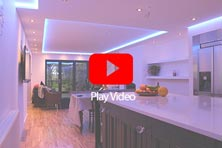 Kitchen project using RGBW LED strip lights
