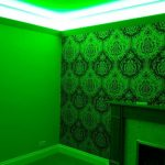 RGB coving LEDs - green-light mix.
