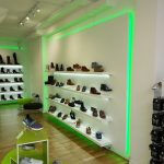 5-watt single-colour LED strips light this retail display