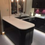 Kitchen pure-white plinth LEDs