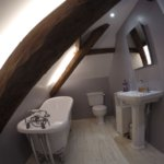 Loft bathroom lit by pure-white LEDs #2