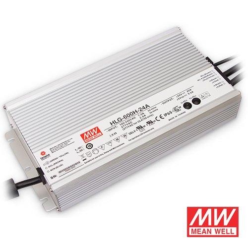 24V 600-watt IP67 Mean Well transformer for LED Tape