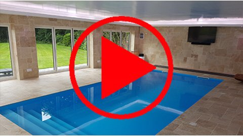 Outdoor pool-house in Liverpool uses RGW LEDs to create a warm, inviting interior