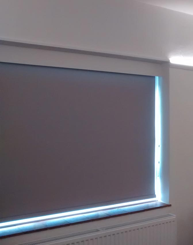 Window-blind and cool LEDs