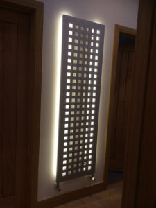 Radiator with backlighting