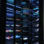 Blue 15-watt LEDs highlight display shelving