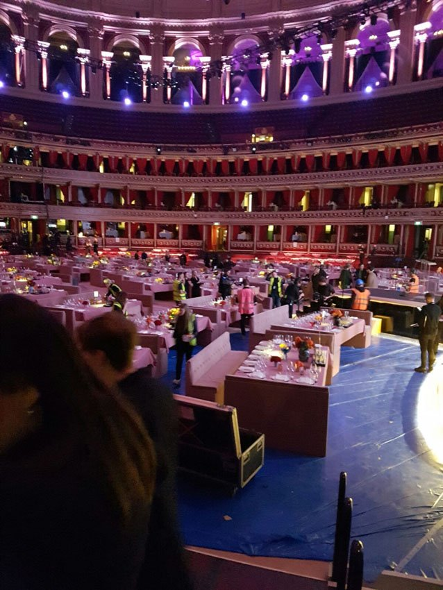 The Fashion Awards at the Royal Albert Hall - waiting for the guests to arrive