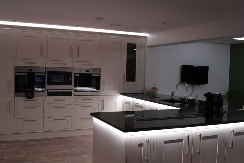 counter-top downlights set to white