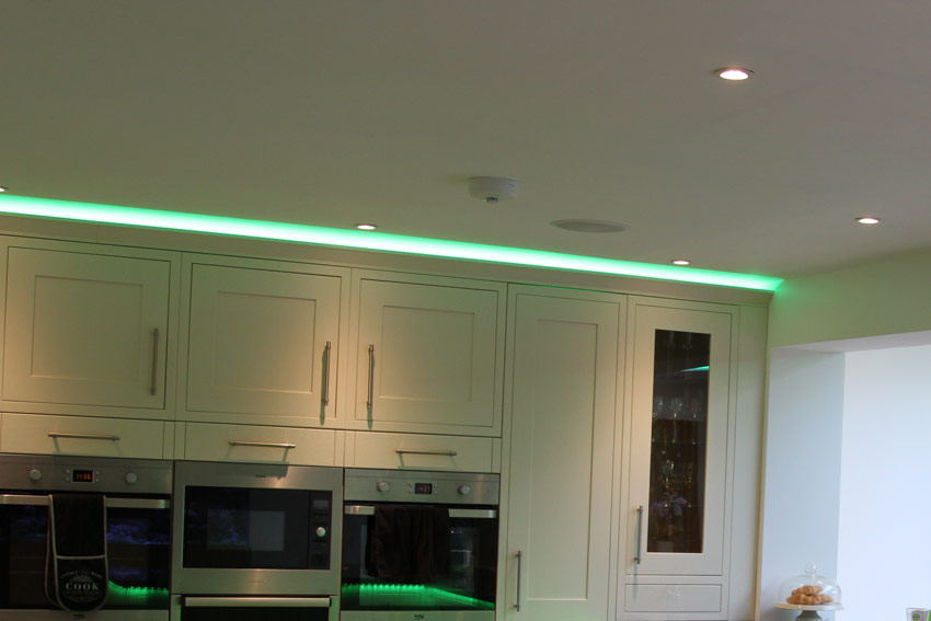 detail of coving LED feature-lights