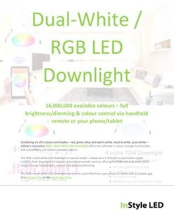 Short guide to InStyle's Dual-White & RGB LED Downlights