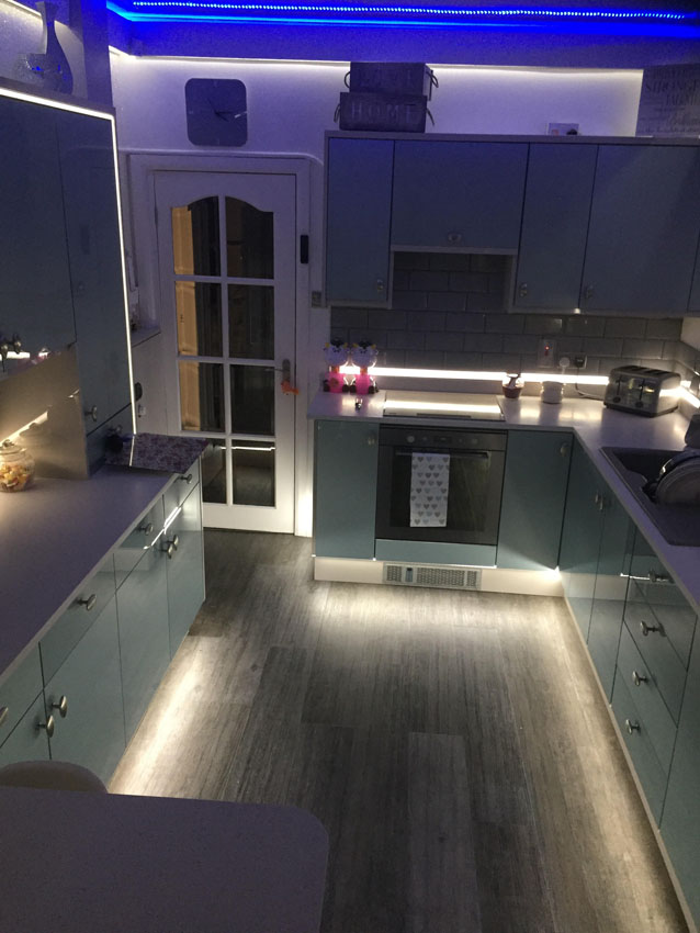 Kitchen plinth led lights because the driver isnt stowed in the plinth this approach can be very useful if youre installing more than one strip of led
