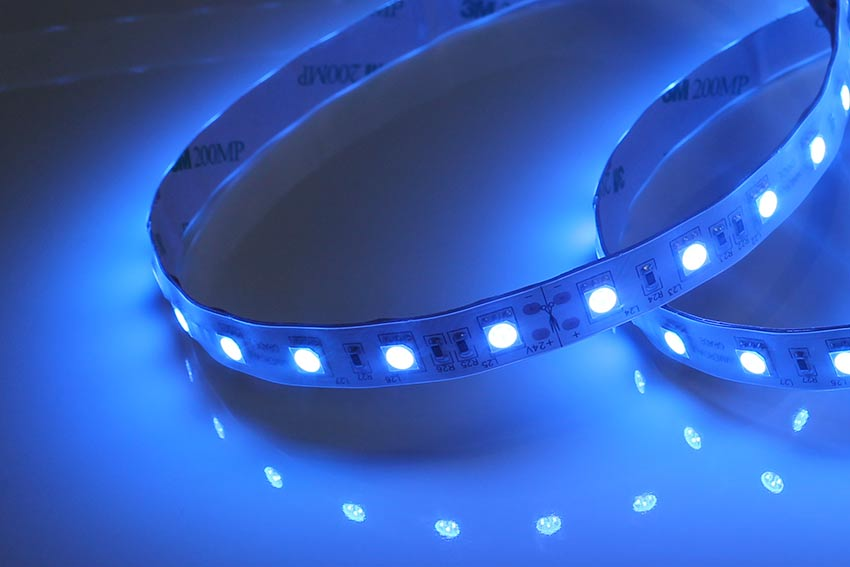 RGB LED strip lights on reel