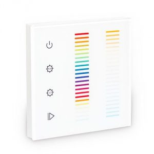 5-colour wall-mounted controller for compound dual-white+RGB LEDs