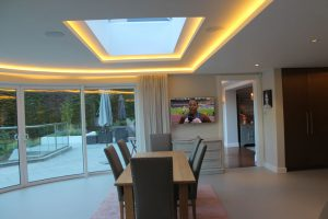 Dining room drop-ceiling & coving LEDs