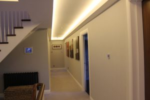 Upper-landing coving LEDs and stairs