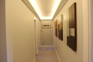 Upper-landing coving LEDs - close shot