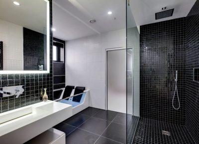5-watt pure white LED strip used to frame a bathroom mirror