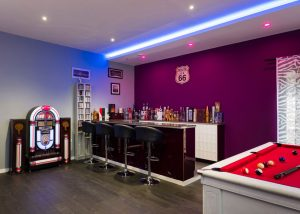 RGBW LED strip provides feature-light in games room
