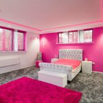 pink bedrooom with RGBW LED coving