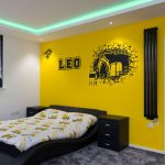 yellow bedrooom with RGBW LED coving