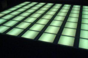 LED dancefloor using lightbox design