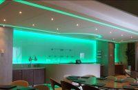 RGB lightbox behind bar at Machester City FC
