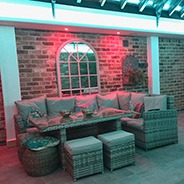 RGBW LEDs in conservatory mixing pure white light