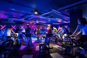 Edge Cycle bootcamp uses LED lightbars for downlighting