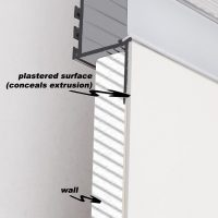 How to install an flush recess extrusion - pic 2
