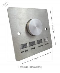 Button-press DMX control panel (stainless steel) dimensions