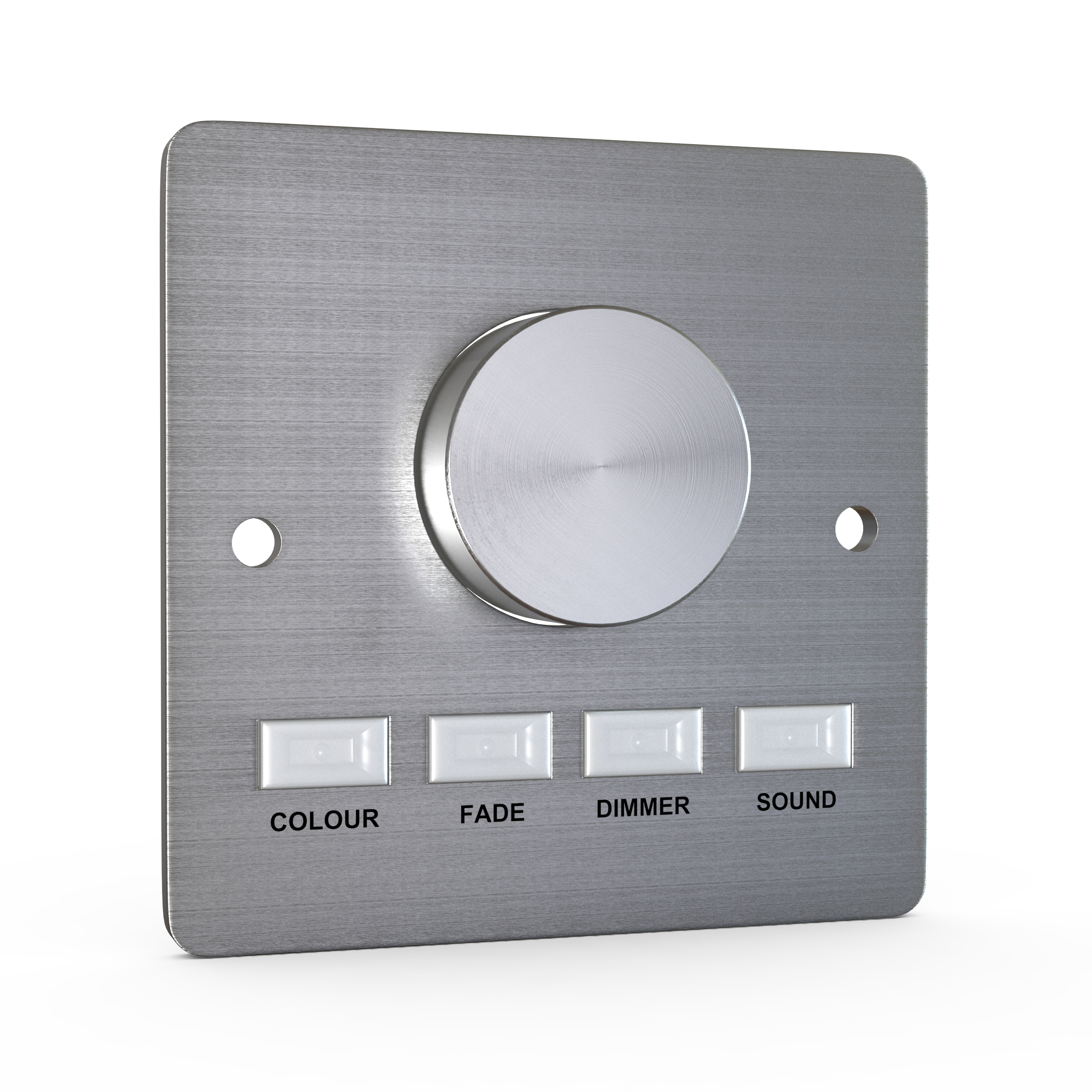 Button-press DMX control panel (stainless steel) - white, single-colour or colour-change