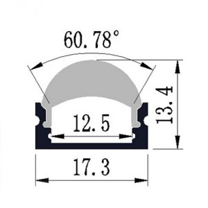 Optic lens LED profile - dimensions