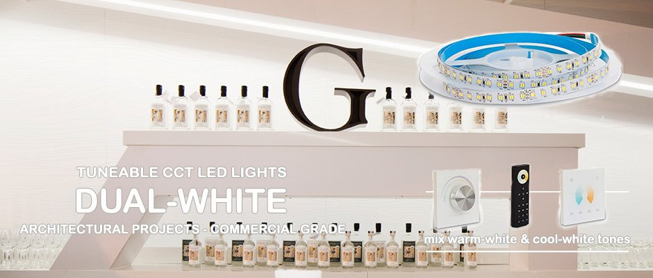 Dual-white CCT LEDs for architectural projects